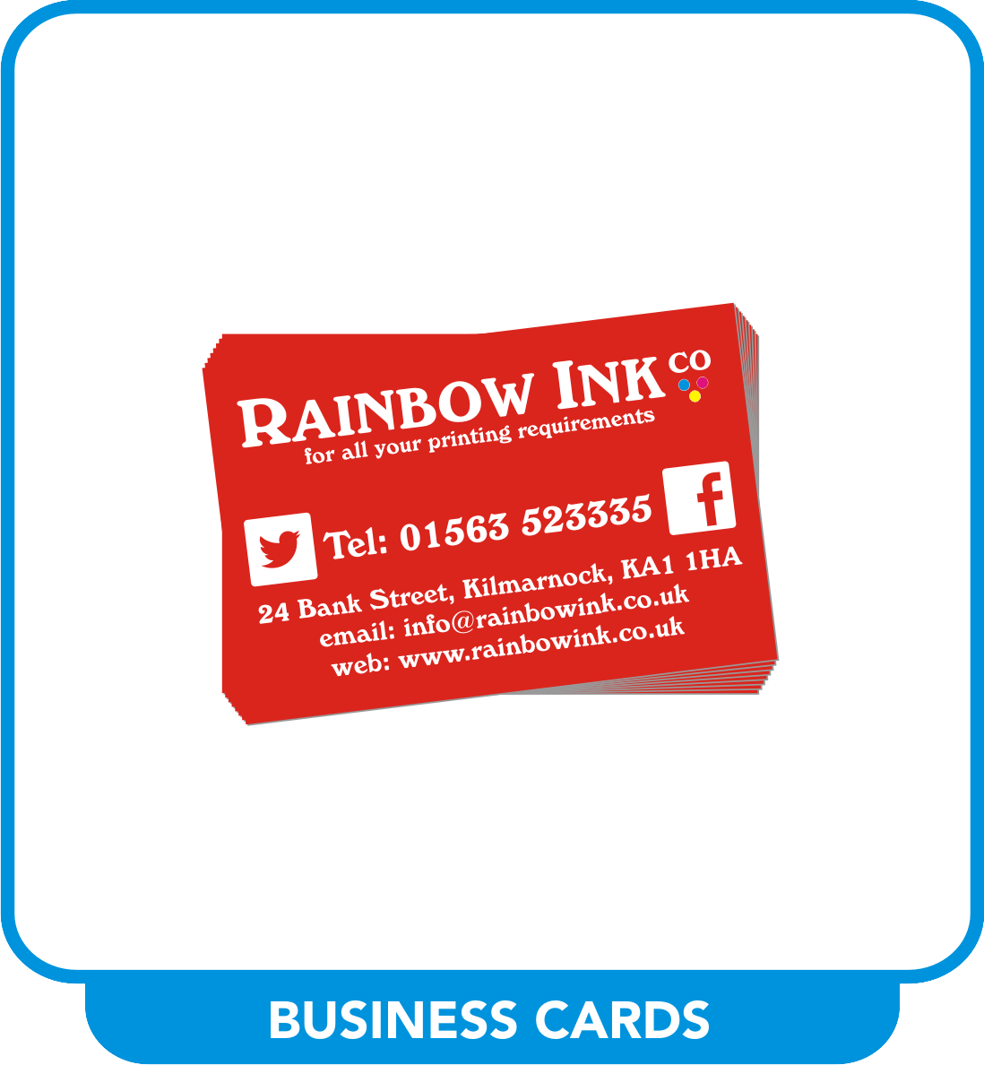 Business Cards & Stationery – Rainbow Ink
